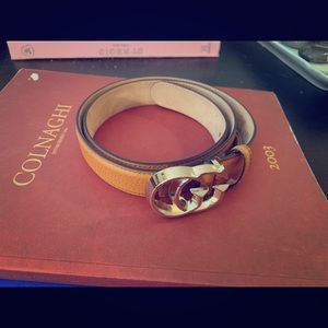 Gucci Leather Belt, Double G, New and Never Worn